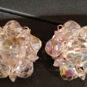 Vintage Dominique clip-on earrings